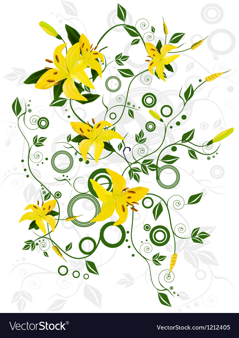 Ornament with flowers vector | Price: 1 Credit (USD $1)
