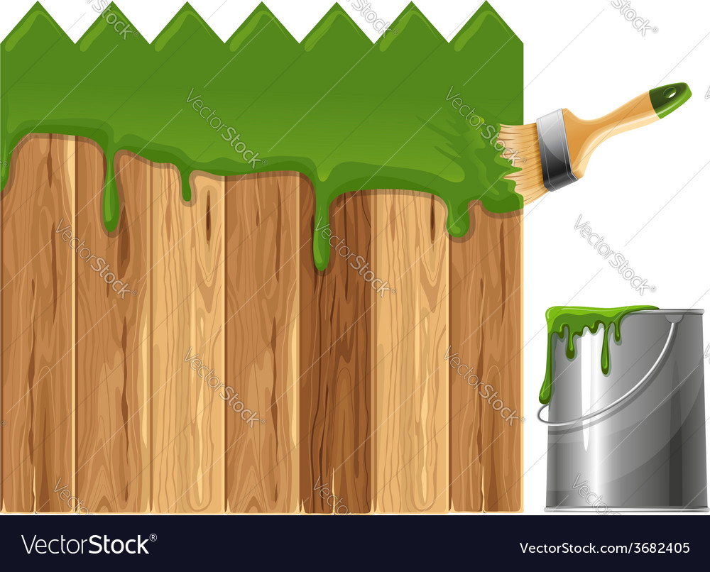 Painted wooden fence vector | Price: 1 Credit (USD $1)