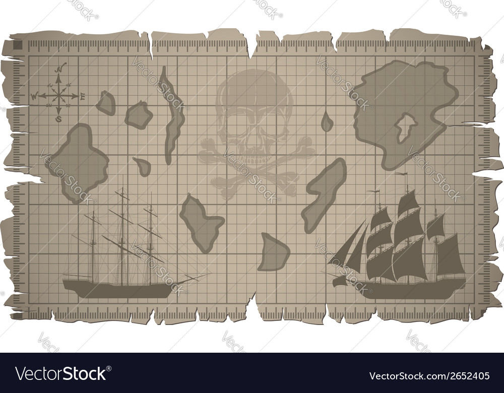 Set of old paper sheets and old map vector | Price: 1 Credit (USD $1)