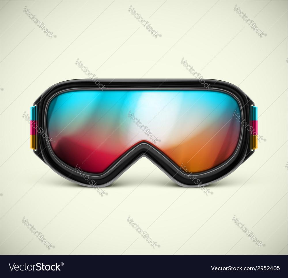Ski goggles vector | Price: 1 Credit (USD $1)
