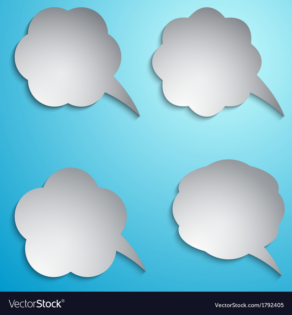 Speech bubble set vector | Price: 1 Credit (USD $1)