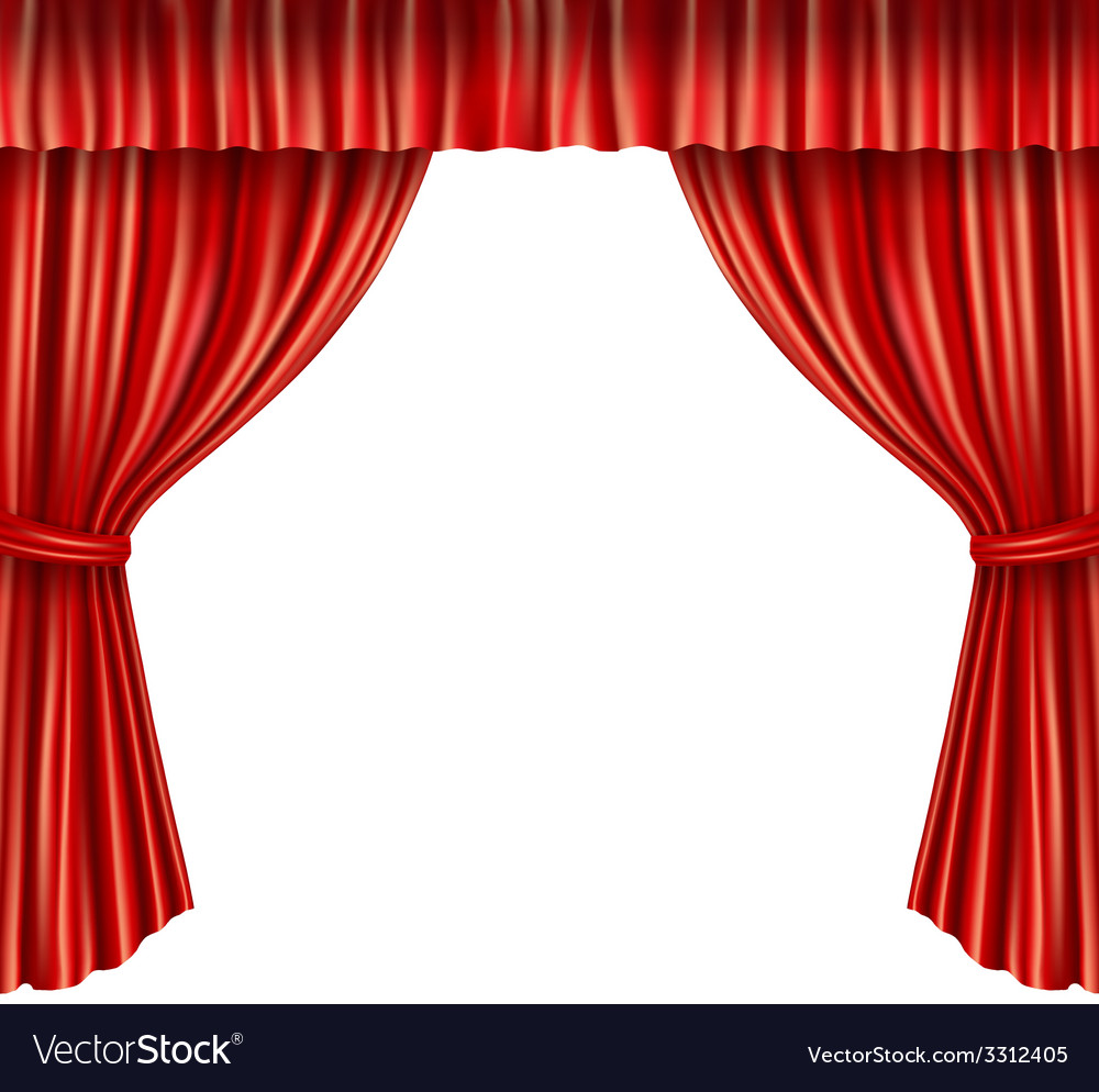 Theater curtains isolated vector | Price: 1 Credit (USD $1)