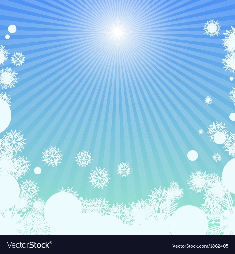 Winter background with sunlight vector | Price: 1 Credit (USD $1)