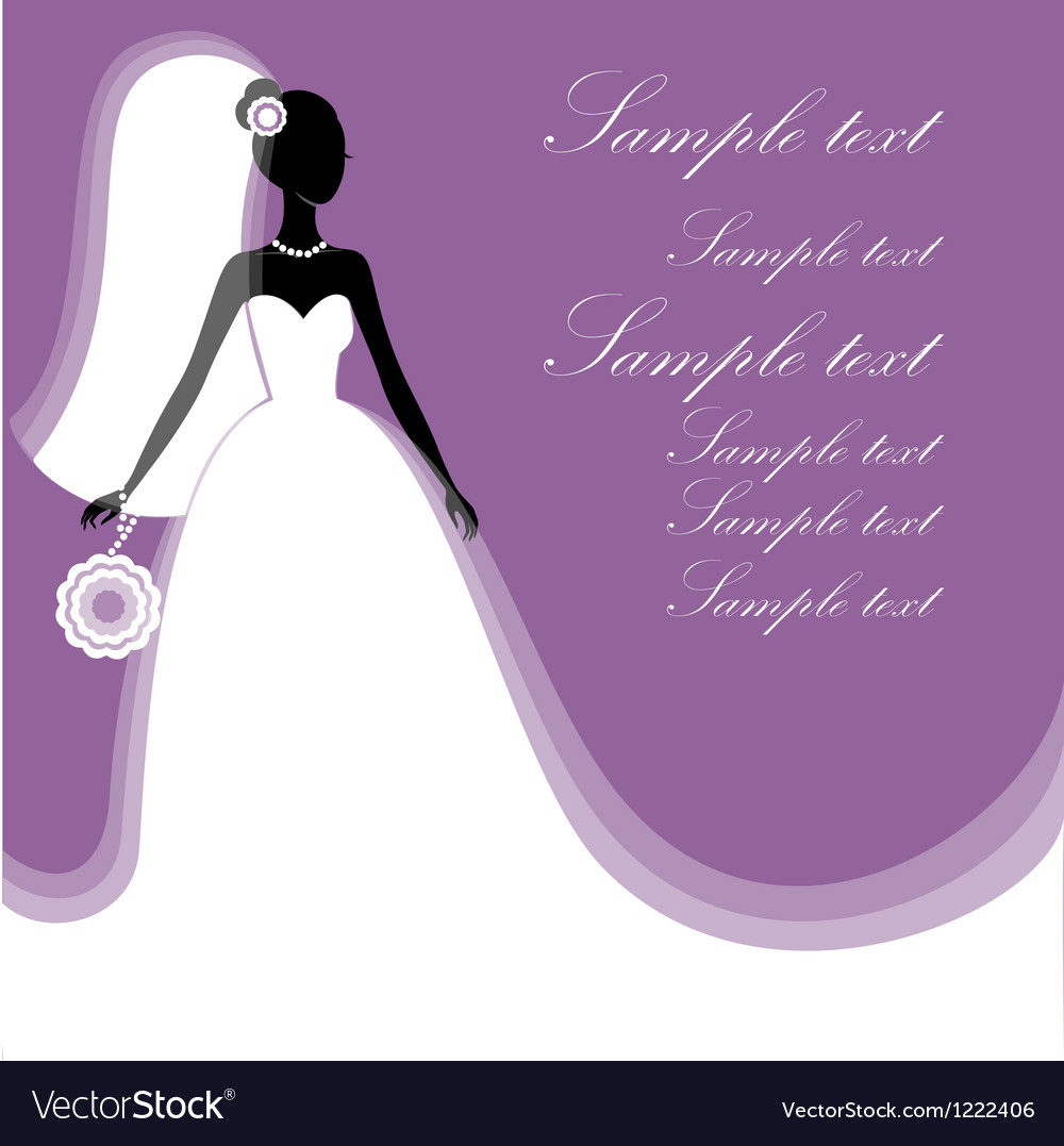 Beautiful young bride vector | Price: 1 Credit (USD $1)