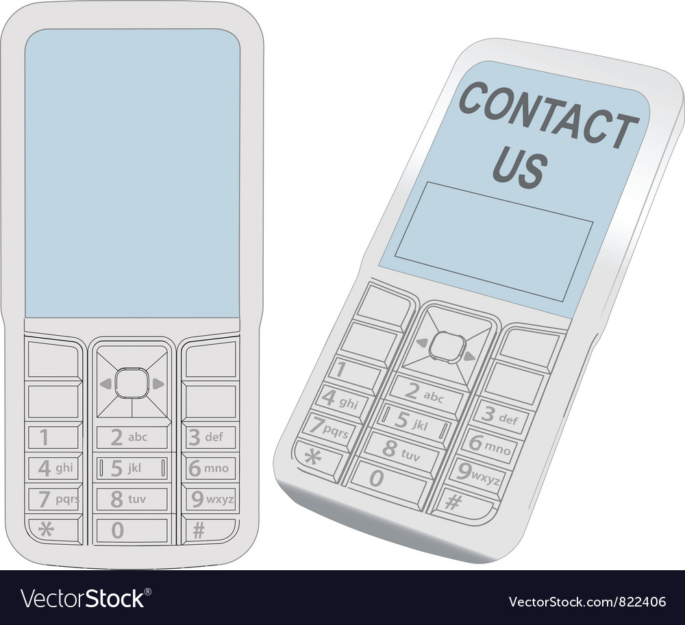Cell phone contact vector | Price: 1 Credit (USD $1)