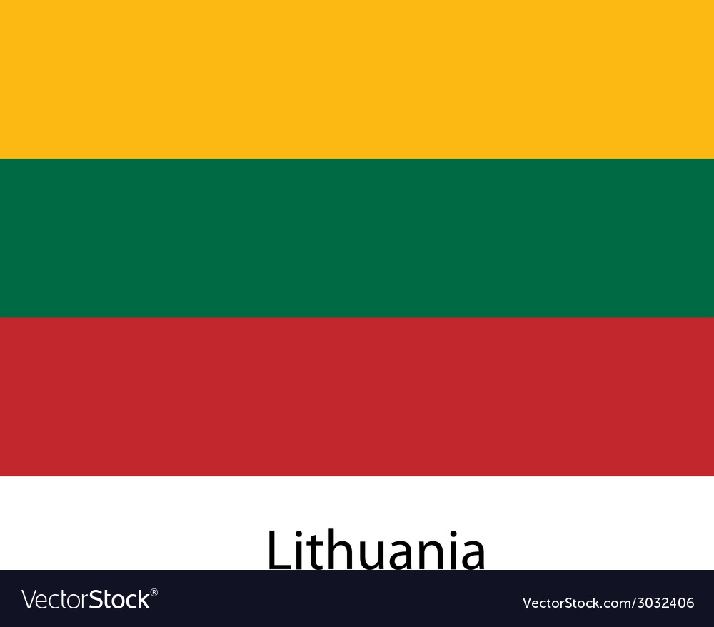 Flag of the country lithuania vector | Price: 1 Credit (USD $1)