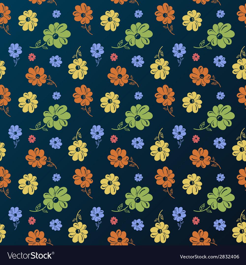 Flower pattern vintage seamless background vector   Price: 1 Credit (USD $1)