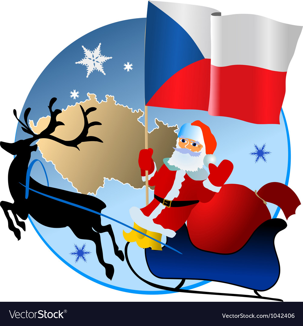 Merry christmas czech republic vector | Price: 1 Credit (USD $1)