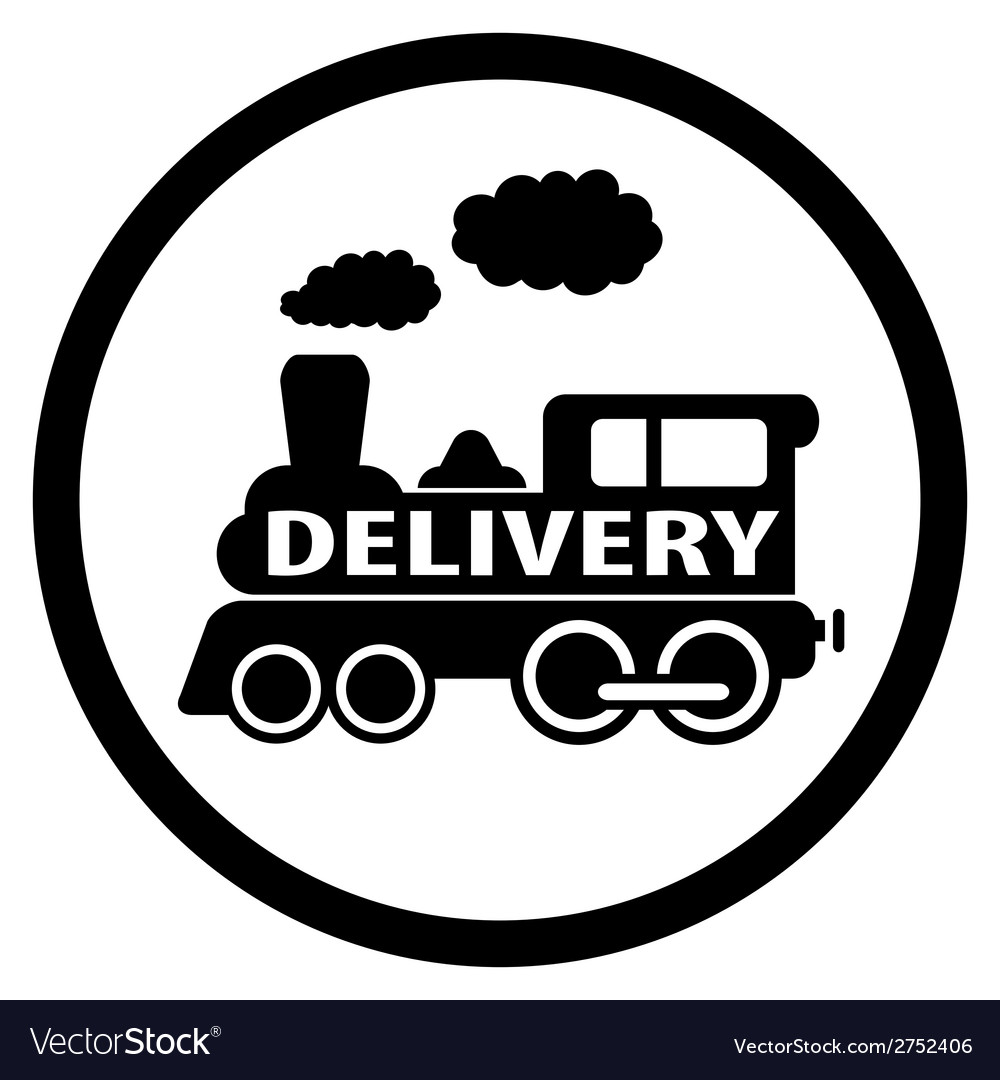 Moving train icon - delivery symbol vector | Price: 1 Credit (USD $1)