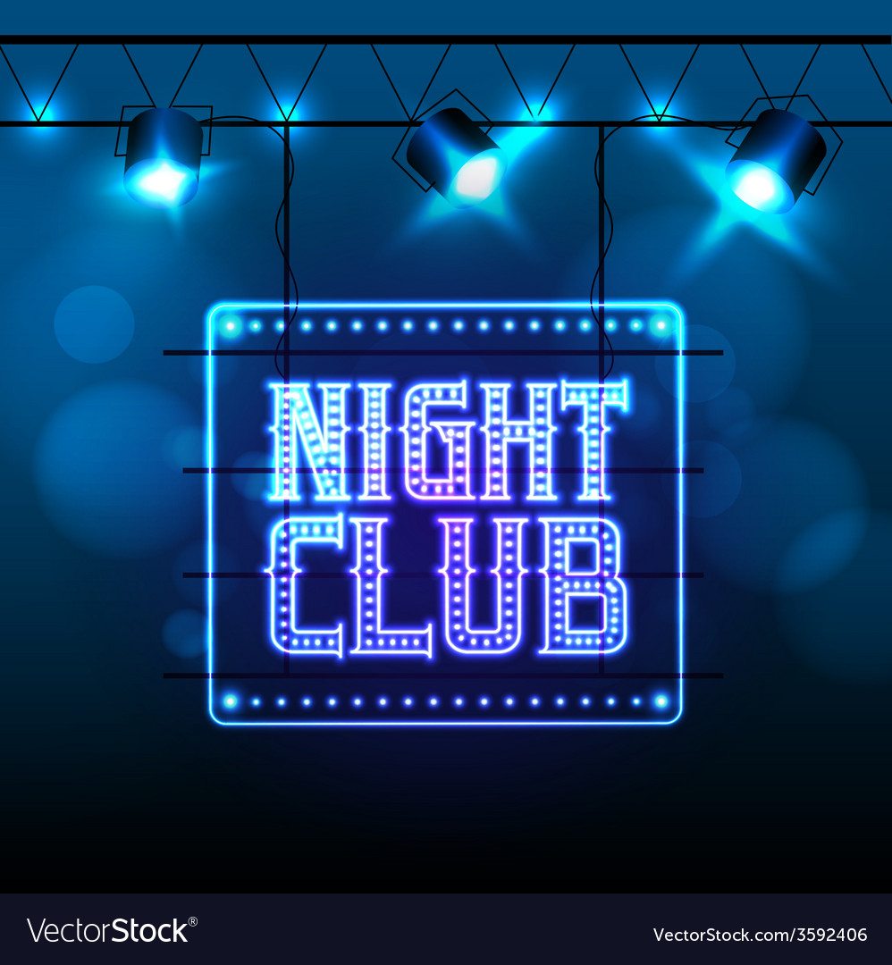 Neon sign disco party night club vector | Price: 1 Credit (USD $1)