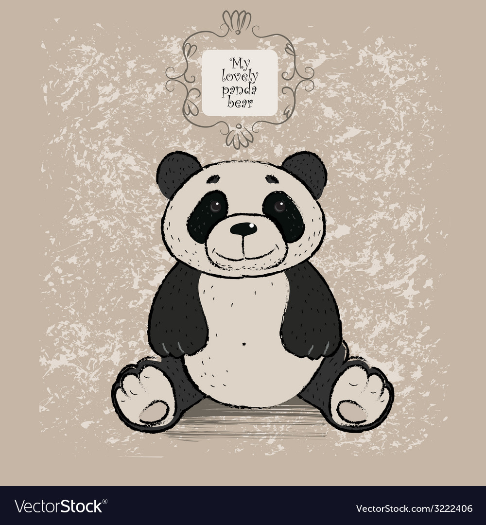Panda bear vector | Price: 1 Credit (USD $1)