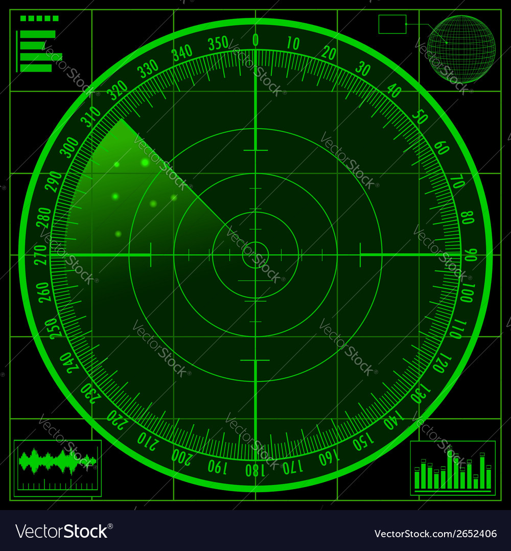 Radar screen eps10 vector | Price: 1 Credit (USD $1)