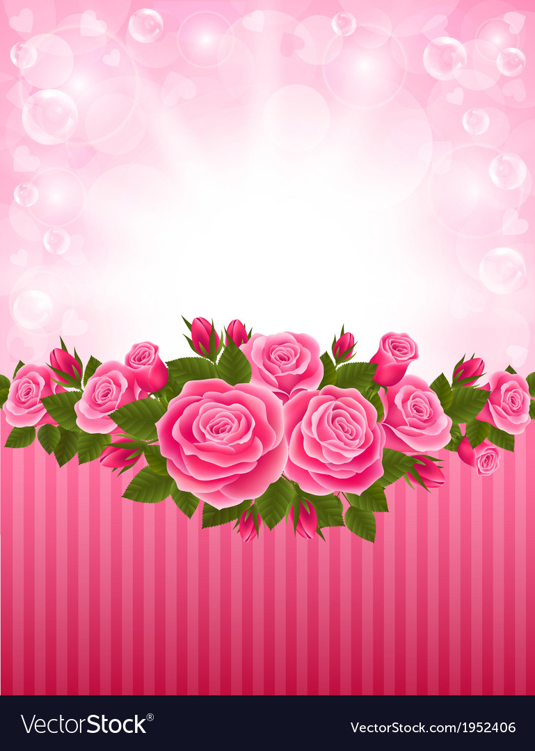 Roses backdrop vector | Price: 1 Credit (USD $1)