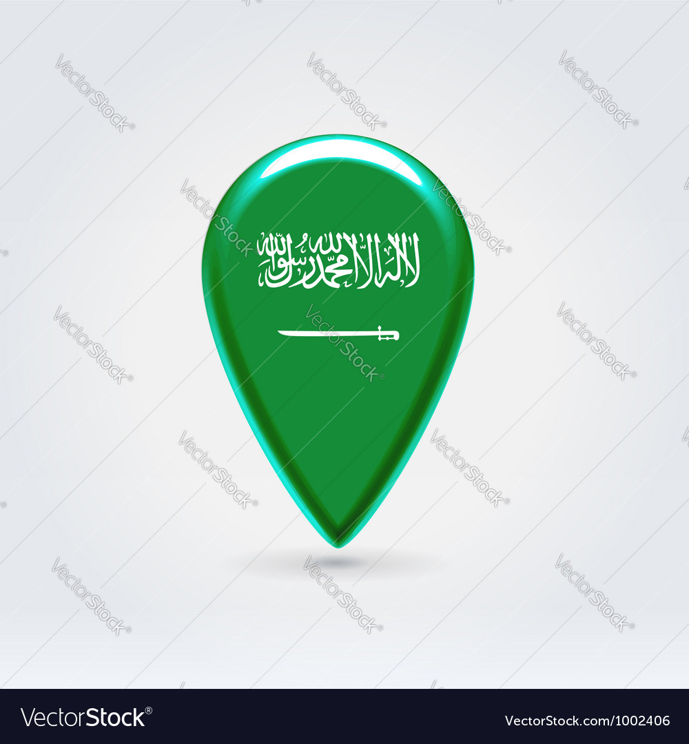 Saudi arabian icon point for map vector | Price: 1 Credit (USD $1)