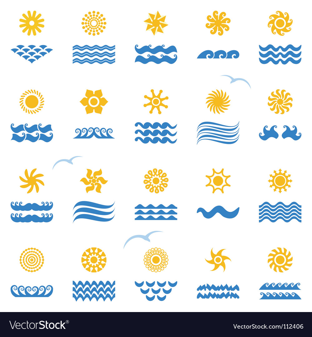 Sunset collection vector | Price: 1 Credit (USD $1)