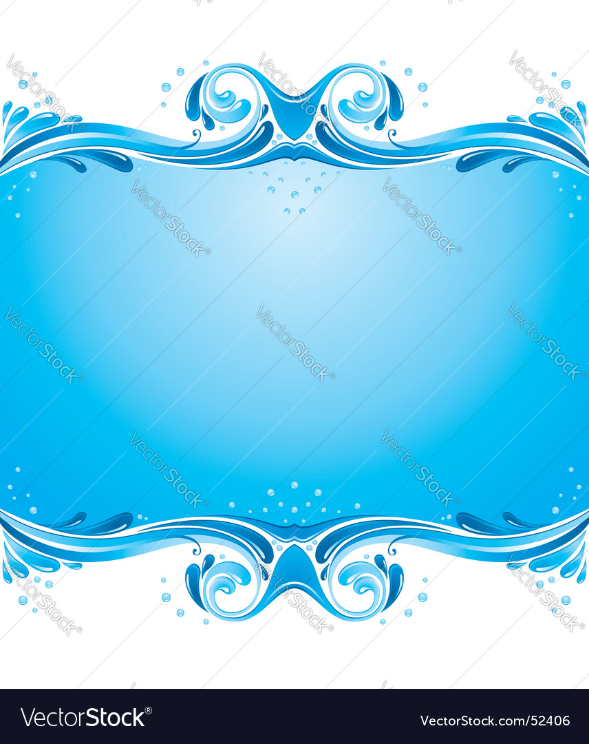 Symmetric water splashes background vector | Price: 1 Credit (USD $1)