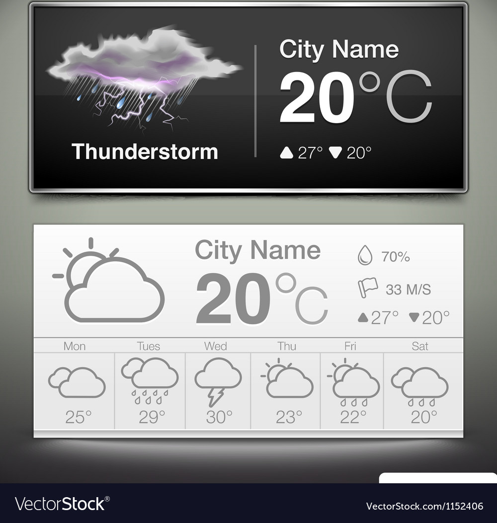 Weather widgets vector | Price: 3 Credit (USD $3)