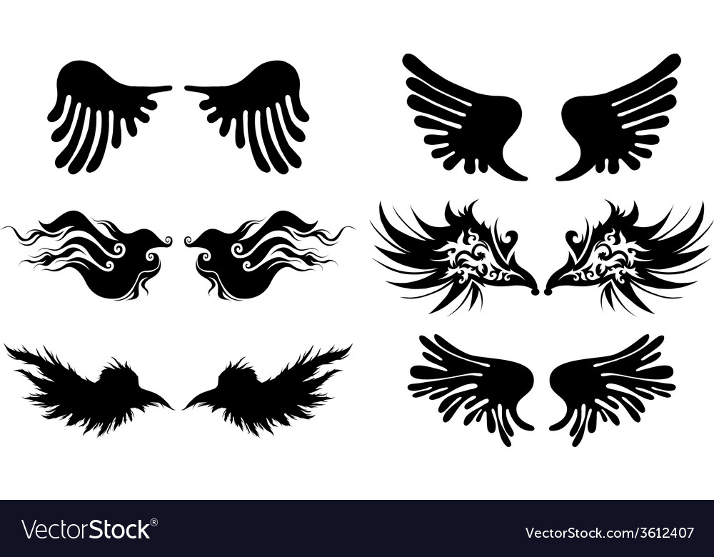 Artistic wings vector | Price: 1 Credit (USD $1)
