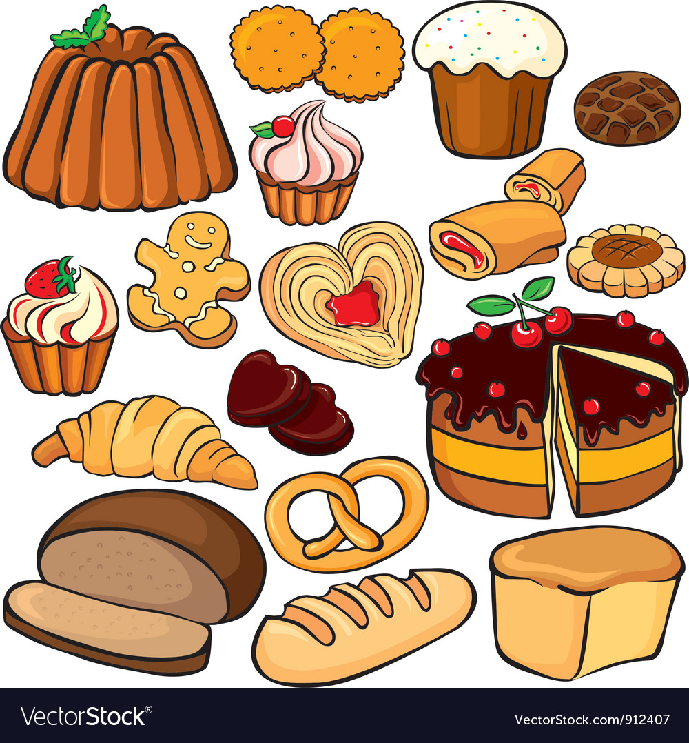 Baking and sweets icon set vector | Price: 3 Credit (USD $3)
