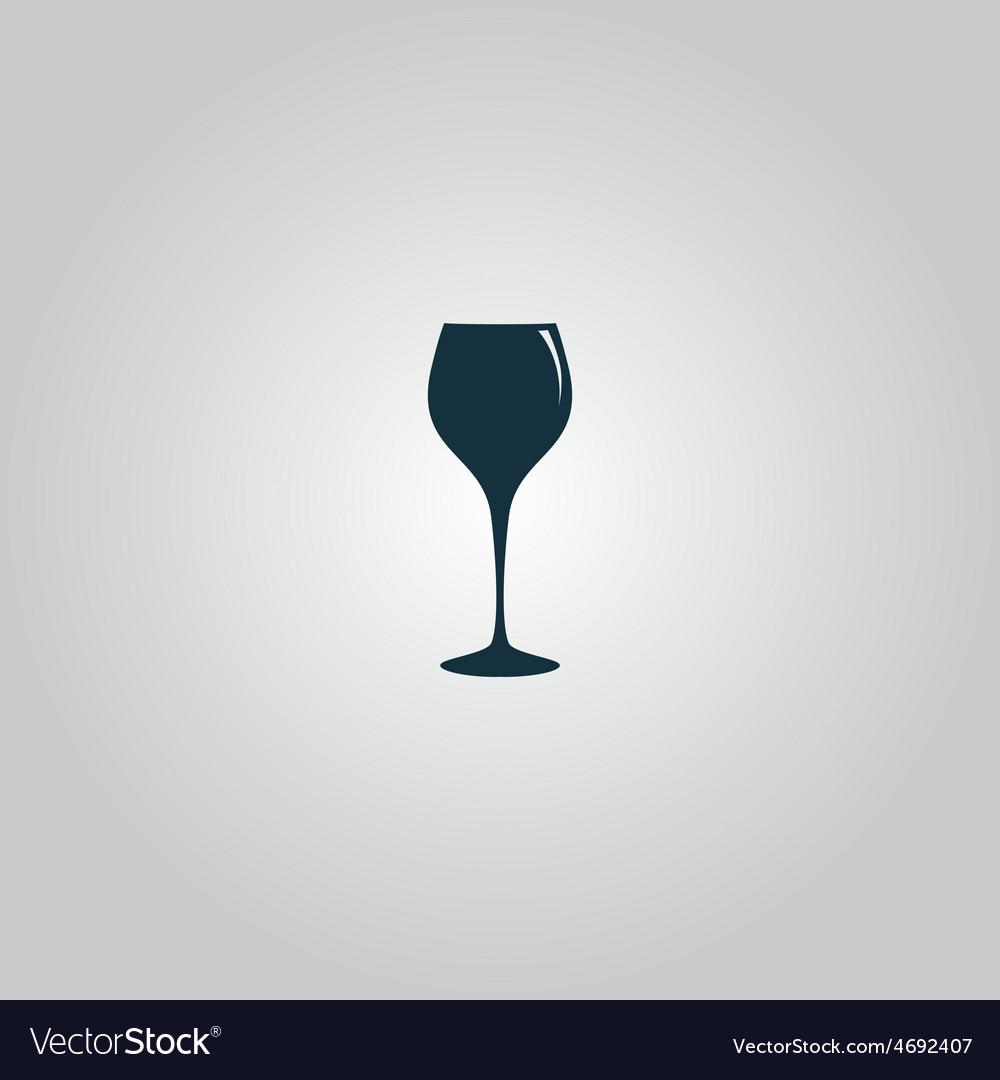 Elegant wine glass vector | Price: 1 Credit (USD $1)