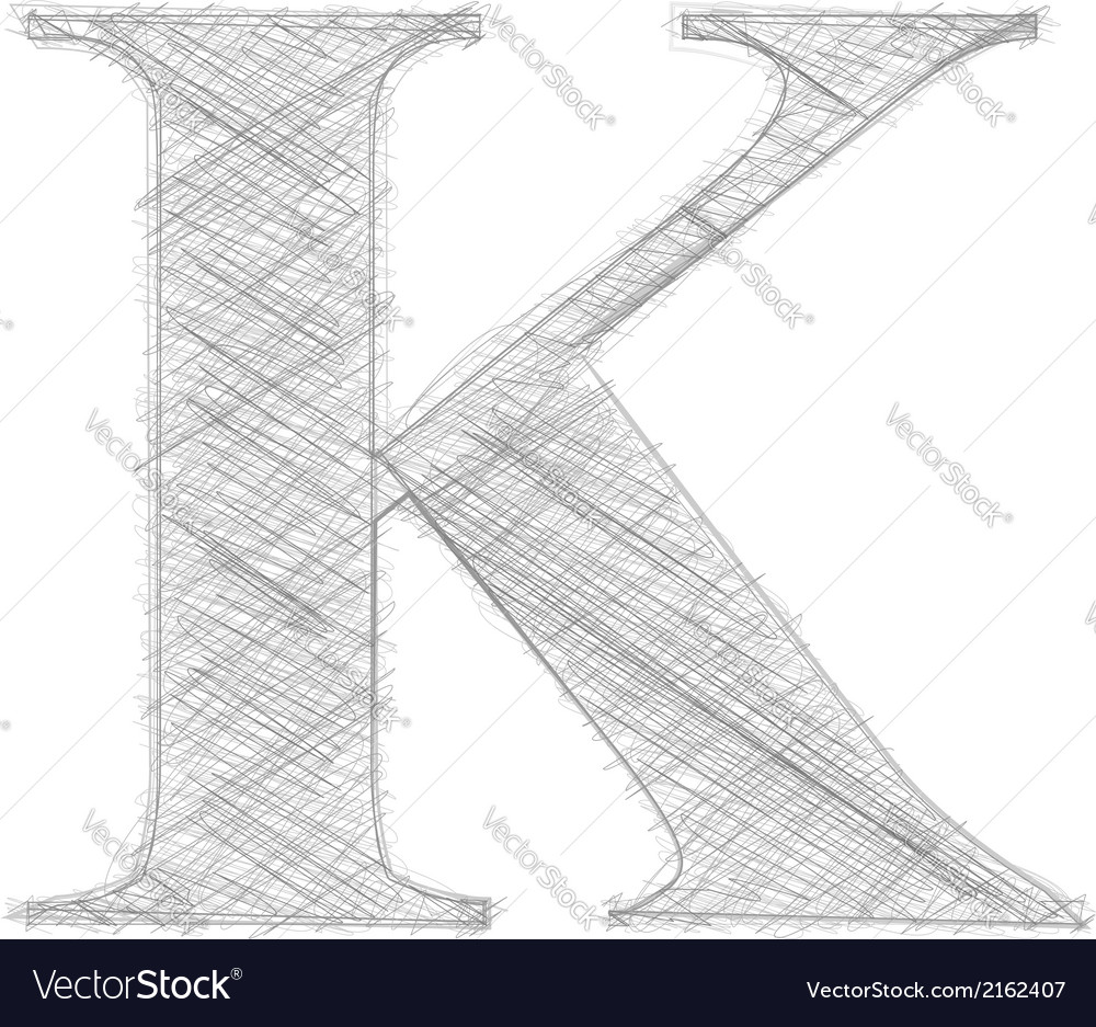 Freehand typography letter k vector | Price: 1 Credit (USD $1)