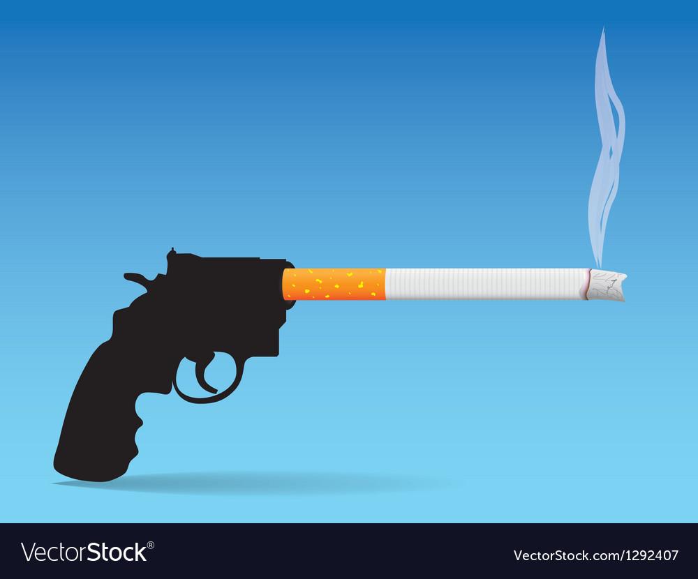 Gun and cigarette vector | Price: 1 Credit (USD $1)