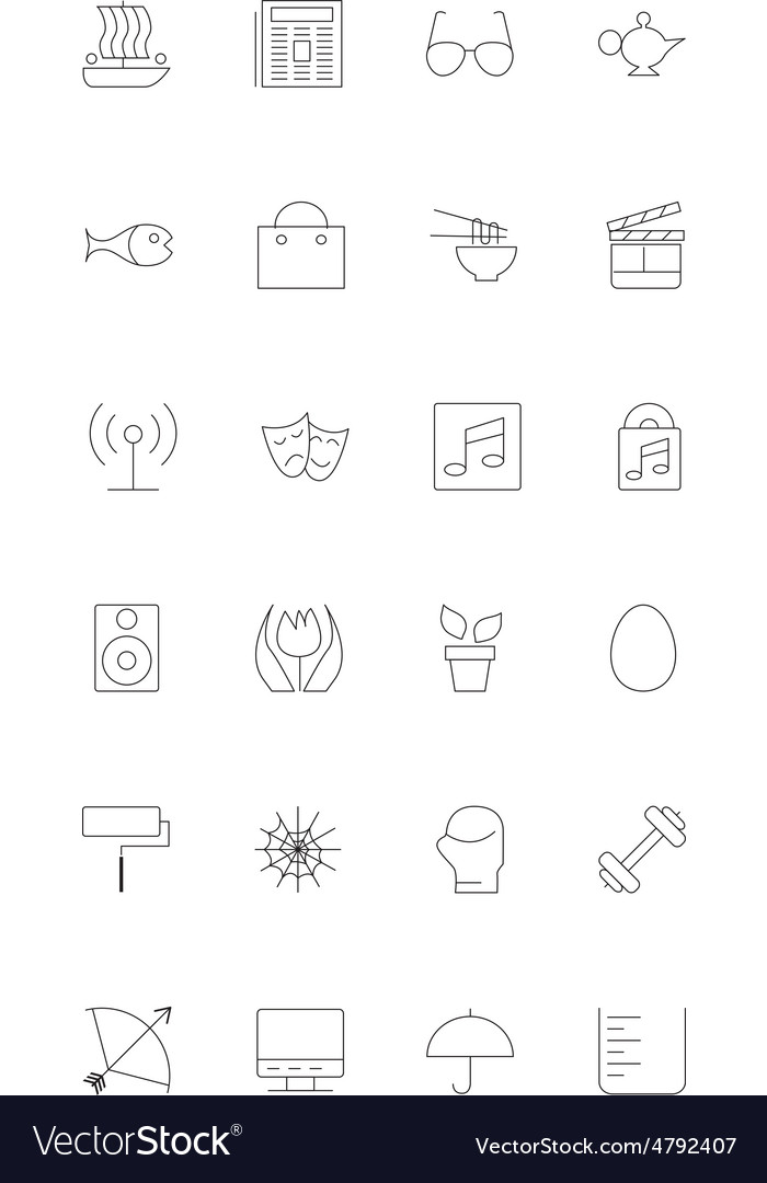 Line icons 13 vector