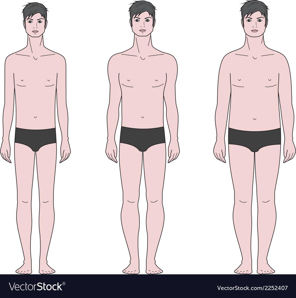 Male figure vector | Price: 1 Credit (USD $1)