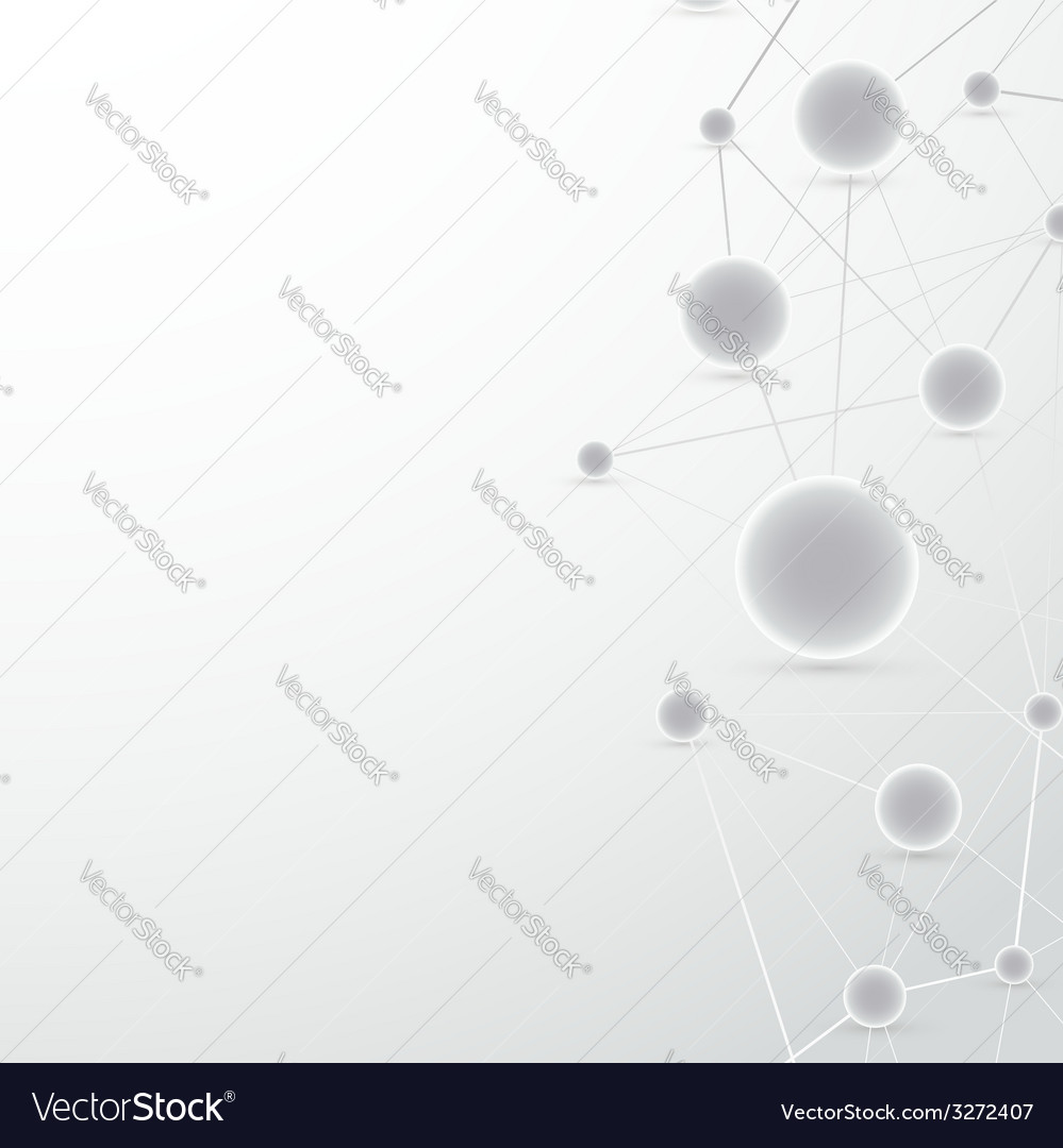Modern vertical molecule connect background vector | Price: 1 Credit (USD $1)