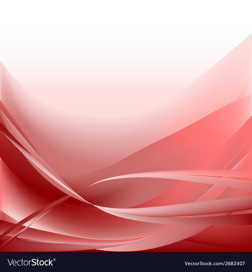 Red waves abstract background vector | Price: 1 Credit (USD $1)
