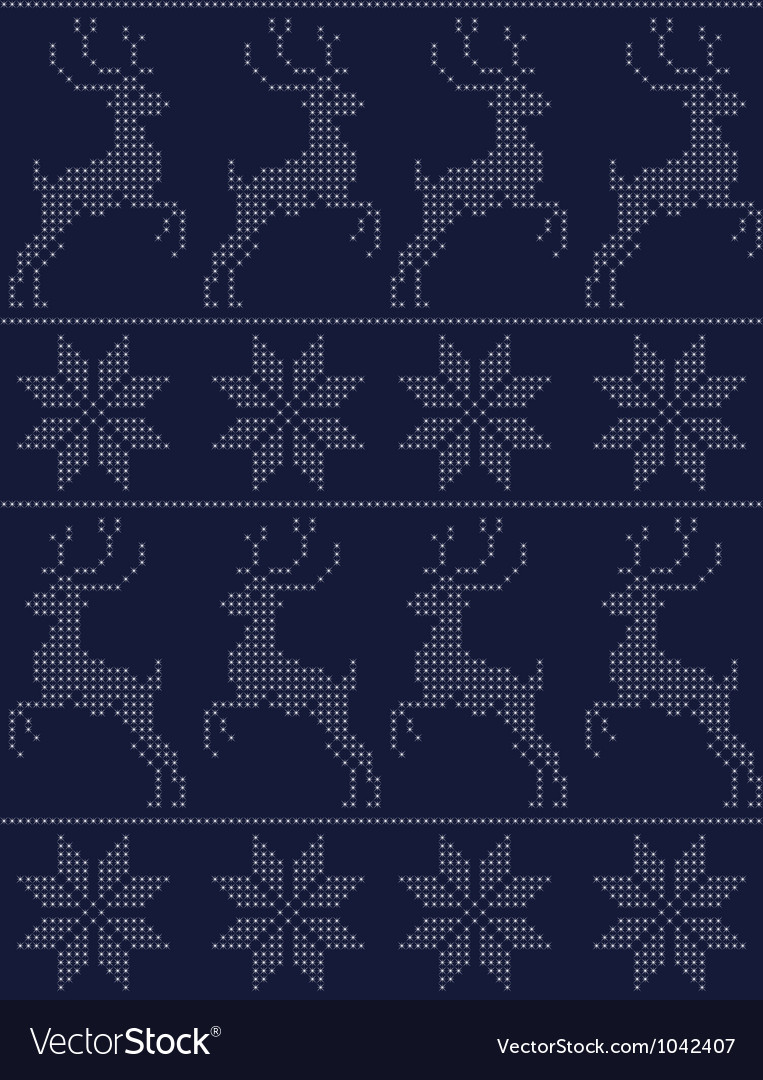 Scandinavian seamless pattern blue vector | Price: 1 Credit (USD $1)