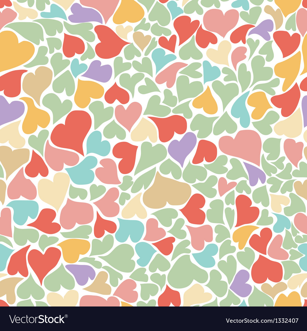 Seamless pastel heart background vector | Price: 1 Credit (USD $1)