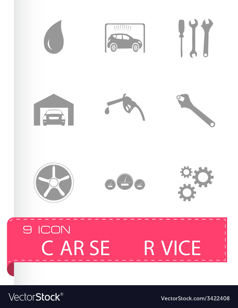 Black car service icons set vector   Price: 1 Credit (USD $1)