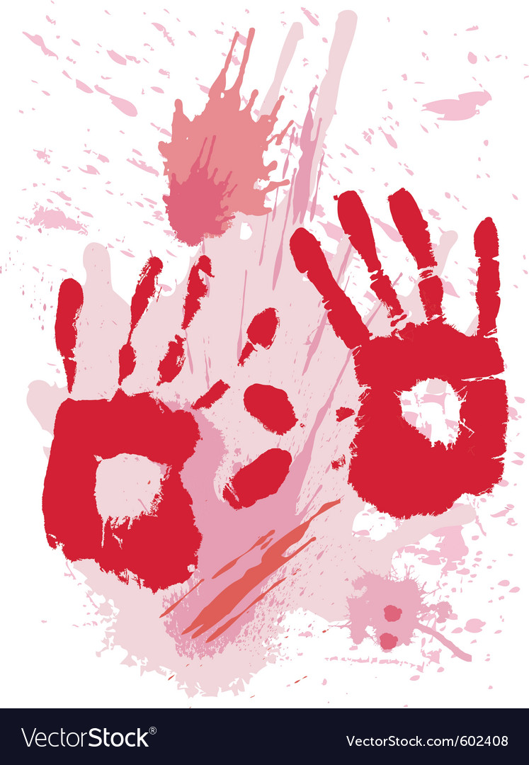 Bloods grunge texture with hands vector | Price: 1 Credit (USD $1)