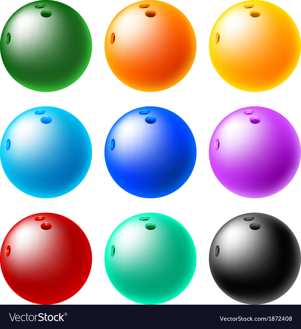 Bowling ball set vector | Price: 1 Credit (USD $1)
