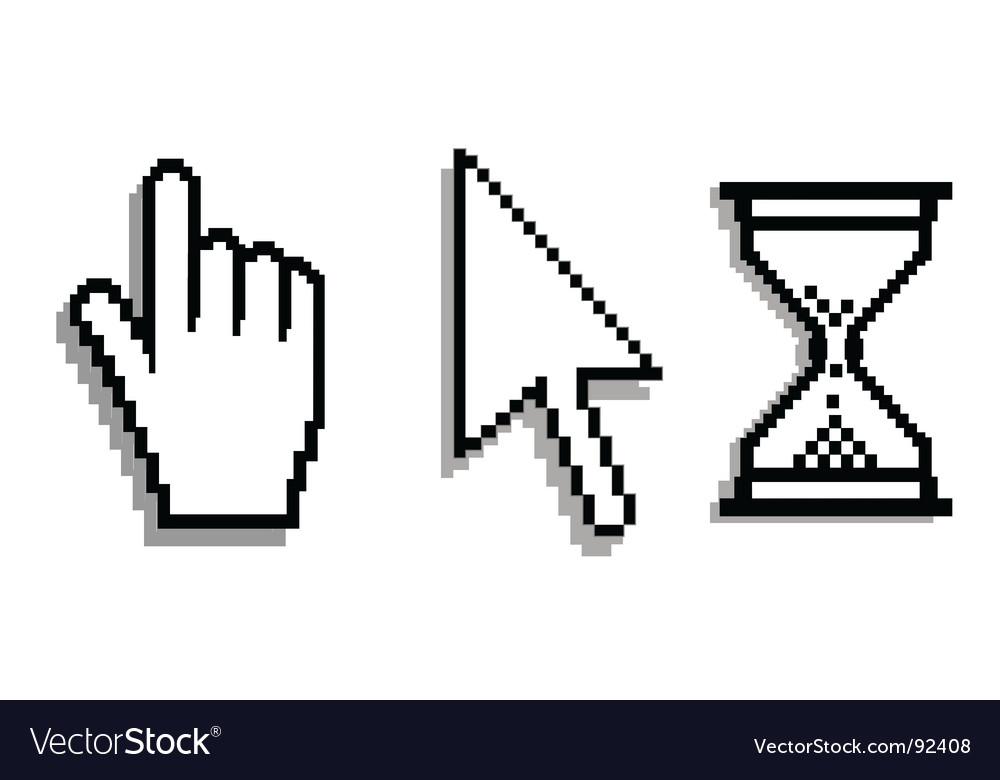 Computer cursors vector | Price: 1 Credit (USD $1)