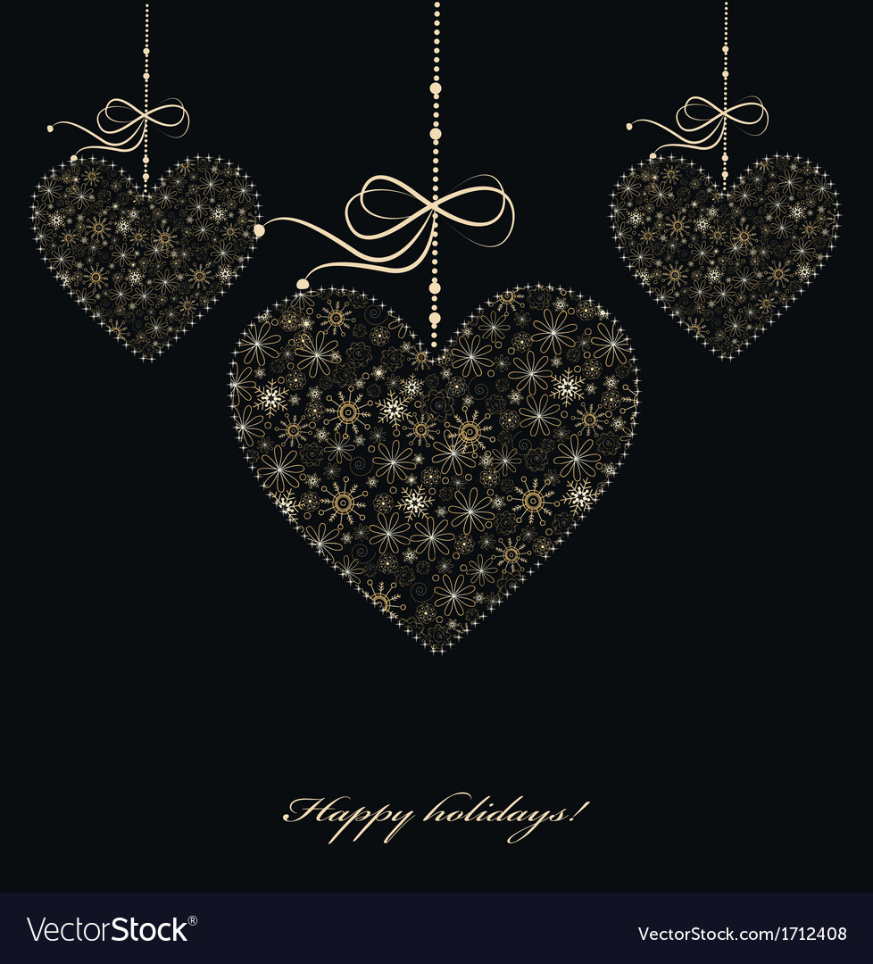 Decoration with golden hearts vector   Price: 1 Credit (USD $1)