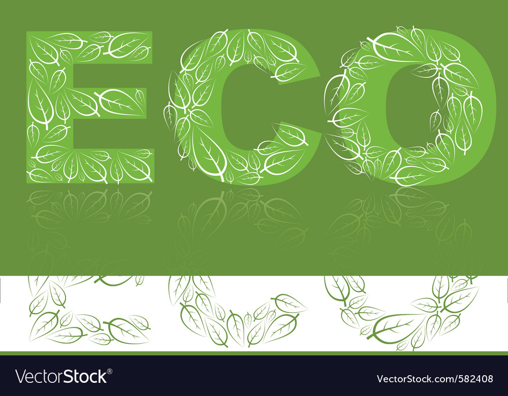 Eco lettering vector | Price: 1 Credit (USD $1)