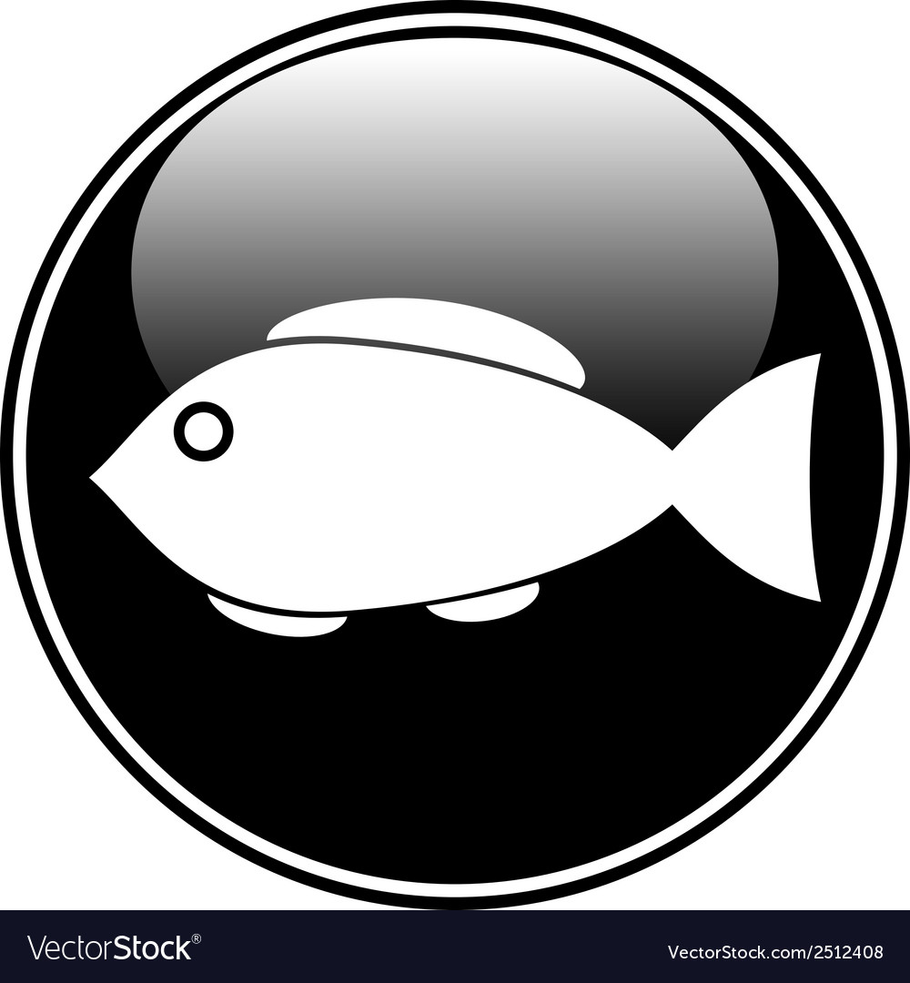 Fish button vector | Price: 1 Credit (USD $1)