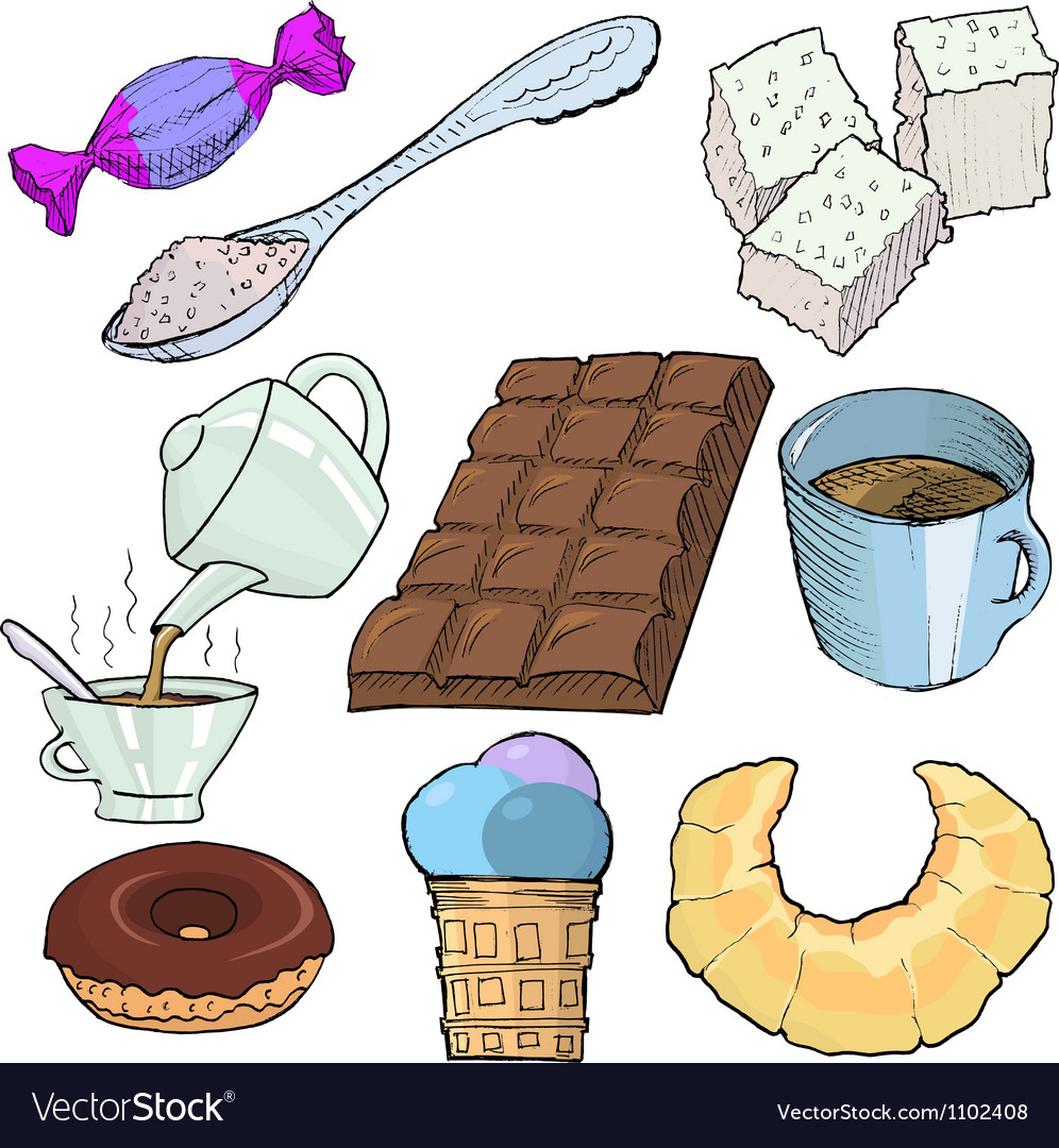 Food and drinks vector | Price: 1 Credit (USD $1)