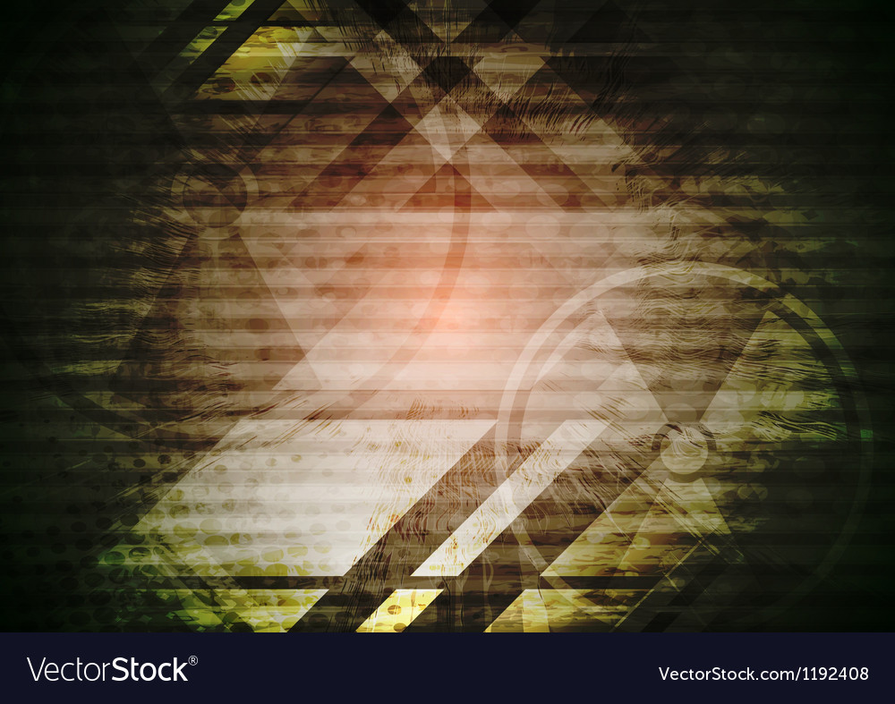 Grunge dark tech background vector