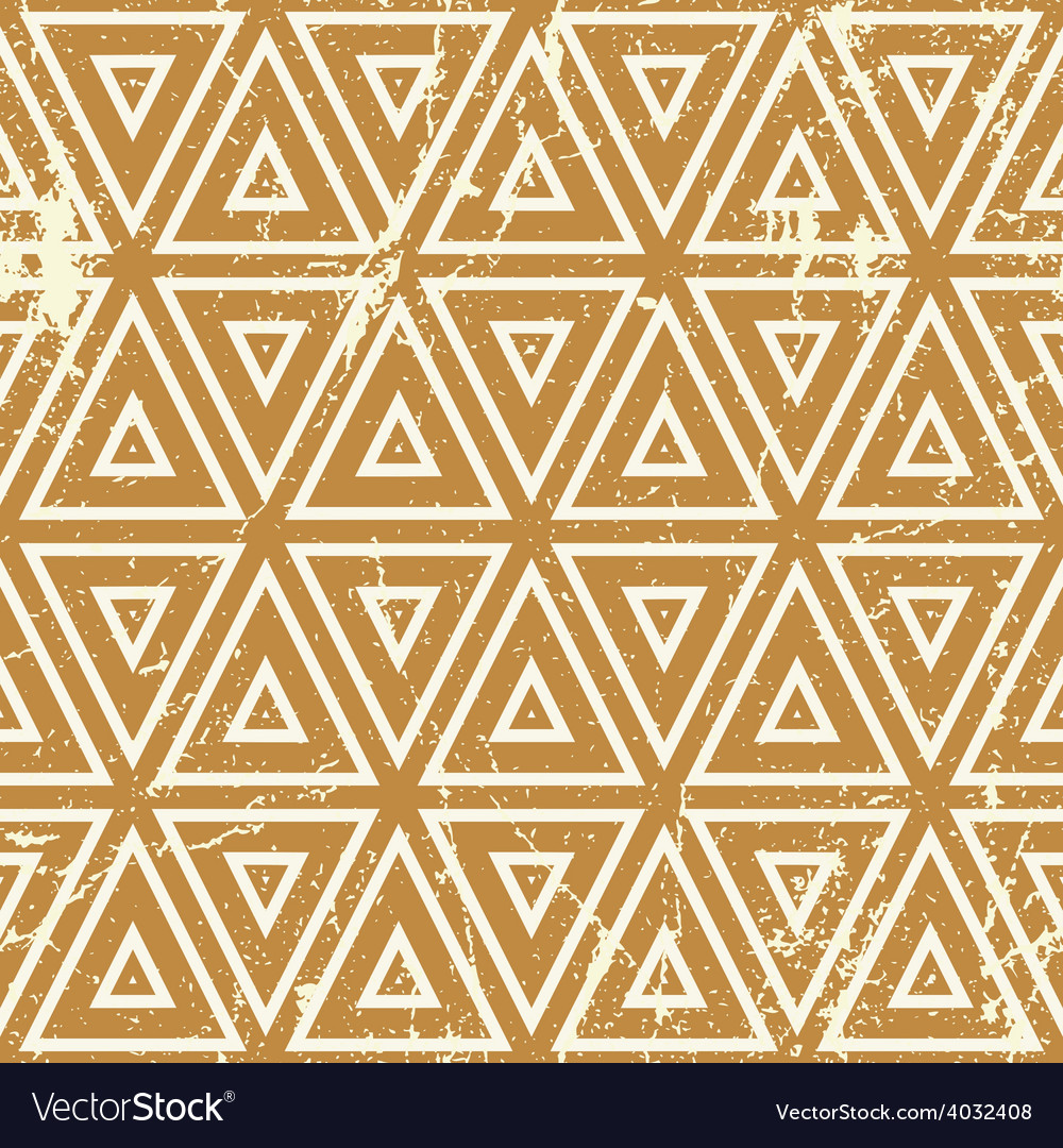 Grunge geometric seamless pattern vintage repeat vector | Price: 1 Credit (USD $1)