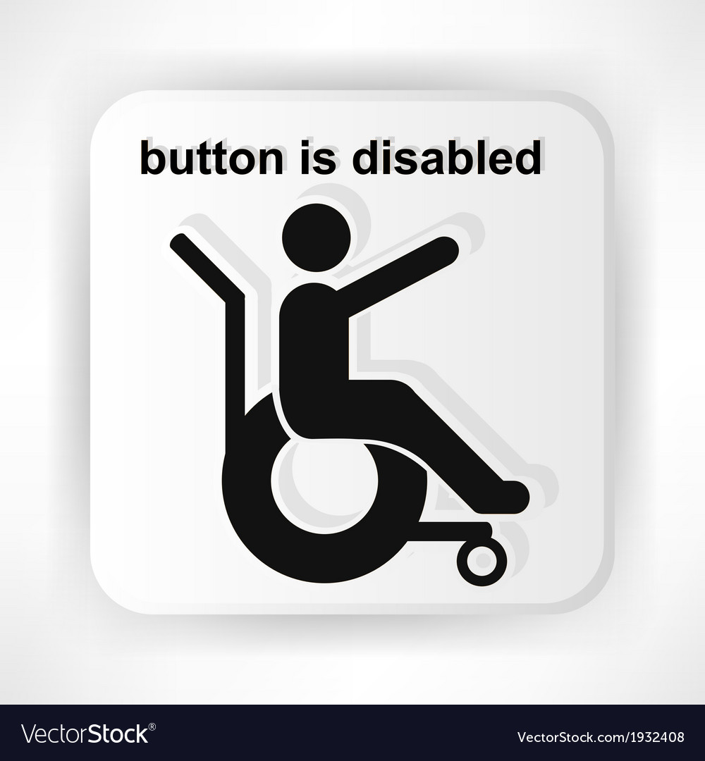 Icon invalid stretched out his hand asks for help vector | Price: 1 Credit (USD $1)