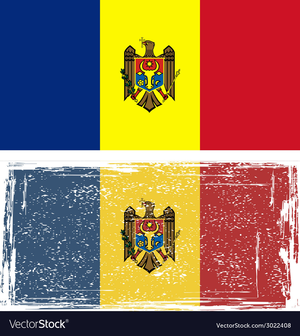 Moldovan grunge flag vector | Price: 1 Credit (USD $1)