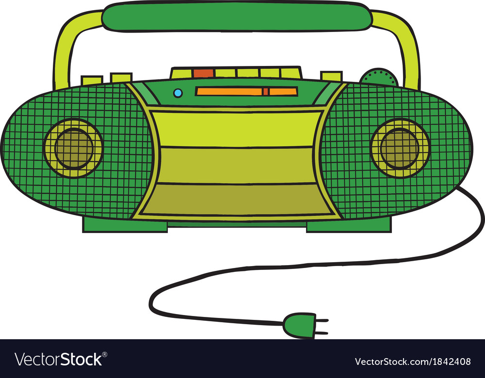 Radio cassette player vector | Price: 1 Credit (USD $1)