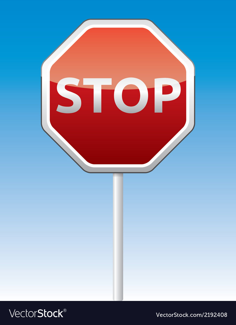 Stop traffic board vector | Price: 1 Credit (USD $1)