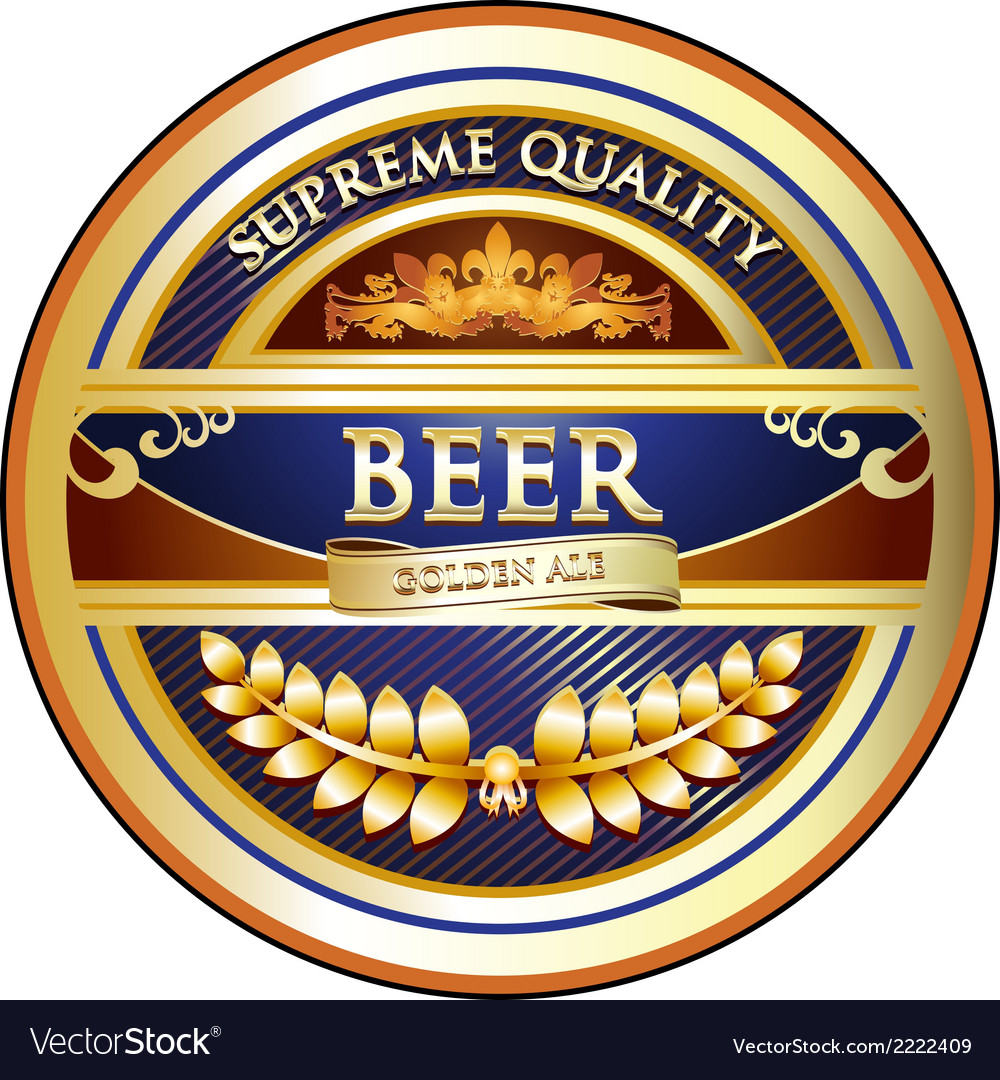 Beer label - ornate vintage design vector | Price: 1 Credit (USD $1)