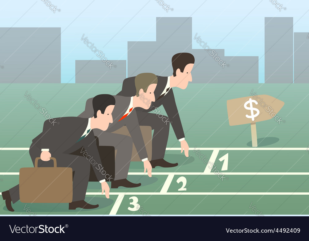 Businessman run vector | Price: 1 Credit (USD $1)