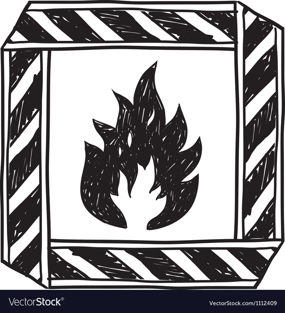 Doodle flammable vector | Price: 1 Credit (USD $1)