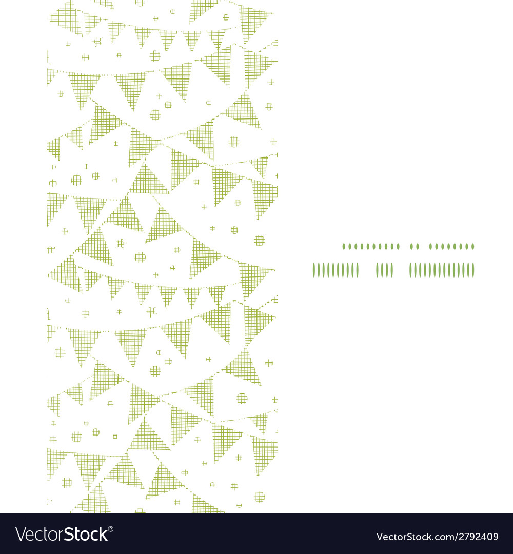 Green textile party bunting vertical frame vector | Price: 1 Credit (USD $1)